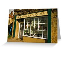 Shop on the Green Greeting Card