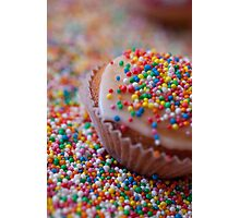 Colourful Cup Cake Photographic Print