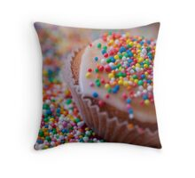 Colourful Cup Cake Throw Pillow
