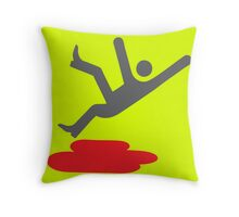 Caution: Blood Throw Pillow