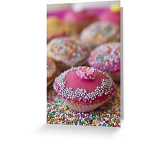 Colourful Cup Cakes Greeting Card