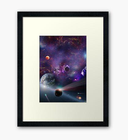 Planet Galaxy Framed Print