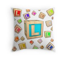 Incredible Letter L Throw Pillow