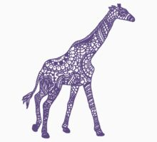 Printed Giraffe - Purple by eliannadraws