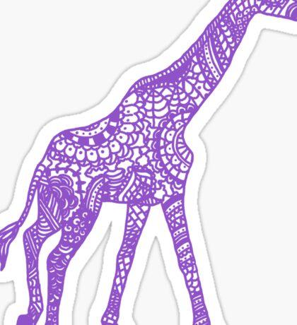 Printed Giraffe - Purple Sticker