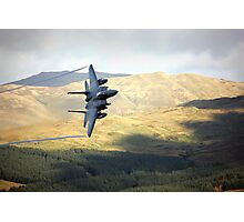 F15 over Wales Photographic Print