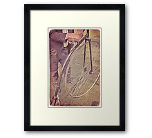 Penny-farthing in the park Framed Print