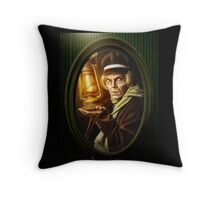 Grave Digger Framed Portrait, Haunted Mansion Series by Topher Adam The Dark Noveler Throw Pillow