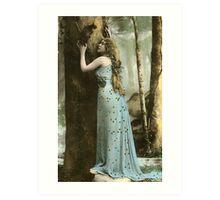 Vintage *Forest Maiden* Art Print