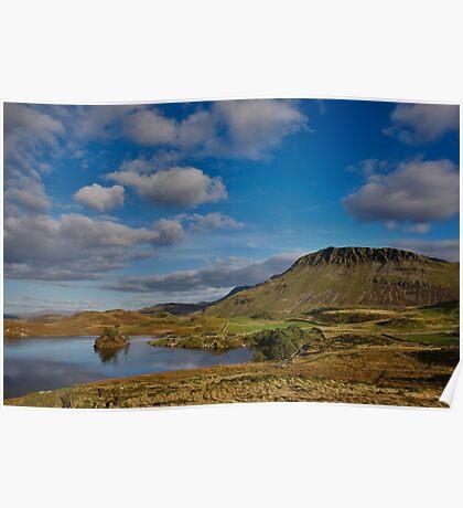 Cregennan lake and Cader Idris Poster