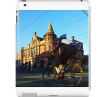 Perseverance Hotel and Cyclist (Fitzroy, Melbourne) iPad Case/Skin