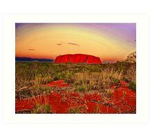 The magic of Uluru Art Print