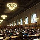The Reading Room in New York Public Library by mandytjie