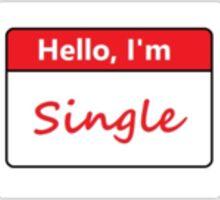 Hello, I'm Single Sticker