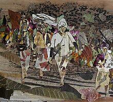Pilgrims-on way to Home by BasantSoni