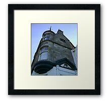 the waiting windows (glass and stone curved, turret, Burntisland) Framed Print