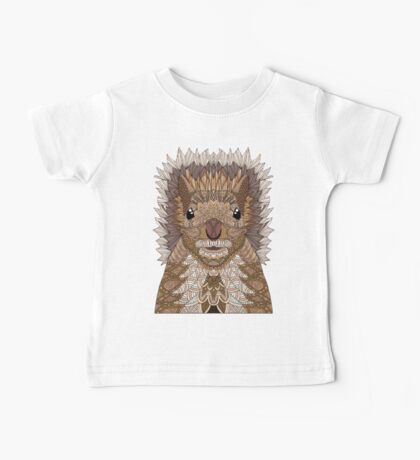 Ornate Squirrel Baby Tee