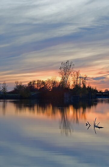 Sunset on the Canal by Mike Oxley