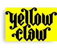 Yellow Claw Logo Black Canvas Print