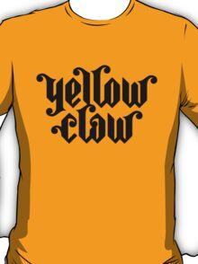 Yellow Claw Logo Black T-Shirt