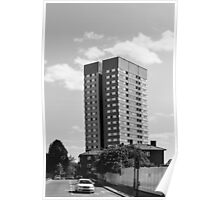 Abbey Road Apartment Blocks Poster