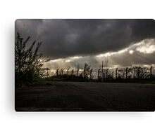 Rays and Clouds Canvas Print
