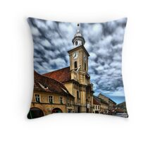Colored Town II Throw Pillow