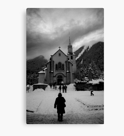 Going to Church Canvas Print