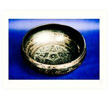 Blue Black Bowl - Tibetan Art Art Print