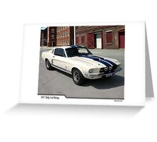 1967 Ford Mustang Shelby Greeting Card