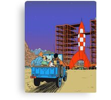 Tintin - Destination moon Canvas Print