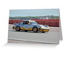 Silver Porsche 911 Greeting Card