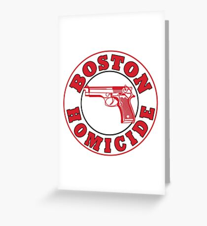 Rizzles Boston Homicide Logo Greeting Card