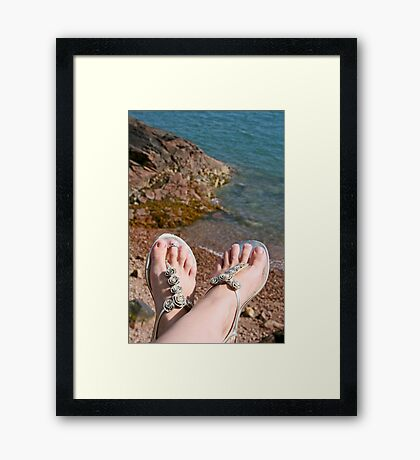 Seaside feet Framed Print