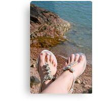 Seaside feet Metal Print
