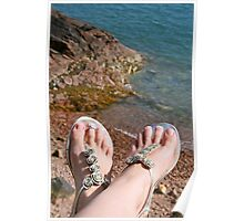 Seaside feet Poster