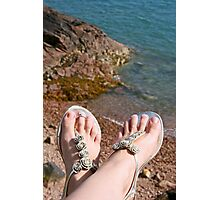 Seaside feet Photographic Print