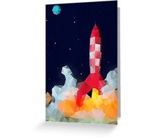 Tintin - Explorers to the moon Greeting Card
