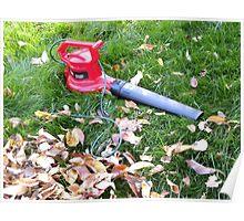 Leaf blower. Poster