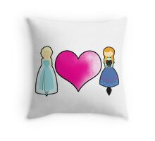 Snow Sisters Throw Pillow