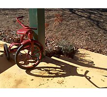Red Tricycle Photographic Print
