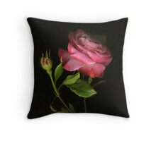 Amy's Rose Throw Pillow