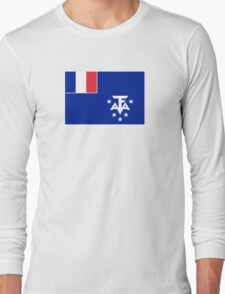 Flag of French Southern and Antarctic Lands Long Sleeve T-Shirt
