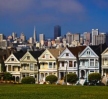 Painted Ladies Of Alamo Square by Justin Baer