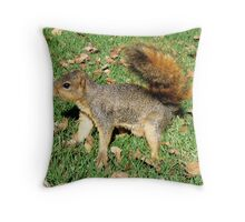 Fearless squirrel Throw Pillow