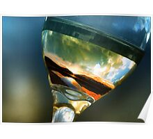 Mountain in a glass of wine, Canmore Alberta 08 Poster
