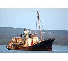 Cheynes 11 - Rusting Whaling Ship Photographic Print