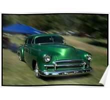1950 Chevrolet Fleetline Custom Coupe Poster