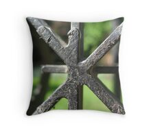 Milk Crate Abstract Throw Pillow