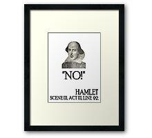 Nein Framed Print